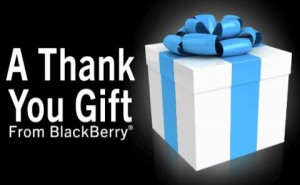 A Thank You Gift from BlackBerry