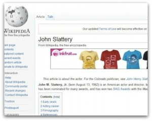 Wikipedia Infected with ads