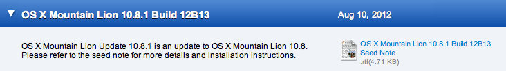 Mountain Lion Beta Update 10.8.1
