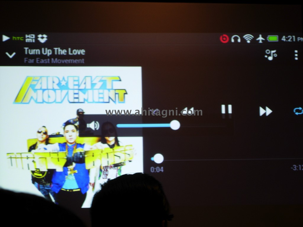 Music player of HTC One