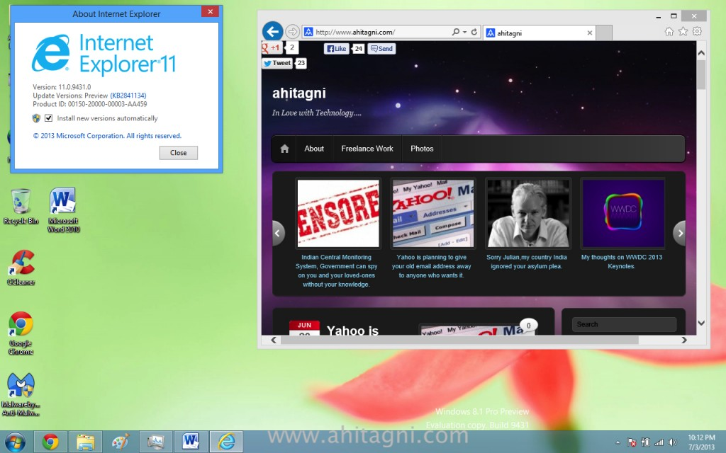 IE 11 on Windows 8.1