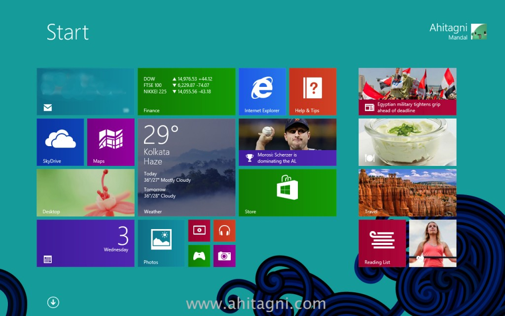 Windows 8.1 Start Page