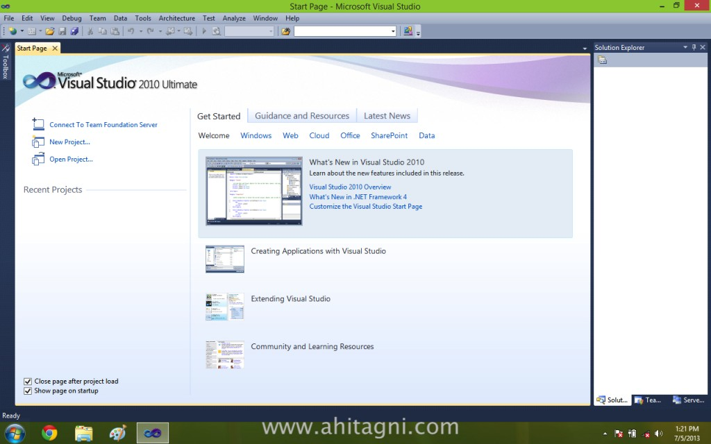 Visual Studio 2010 on Windows 8.1