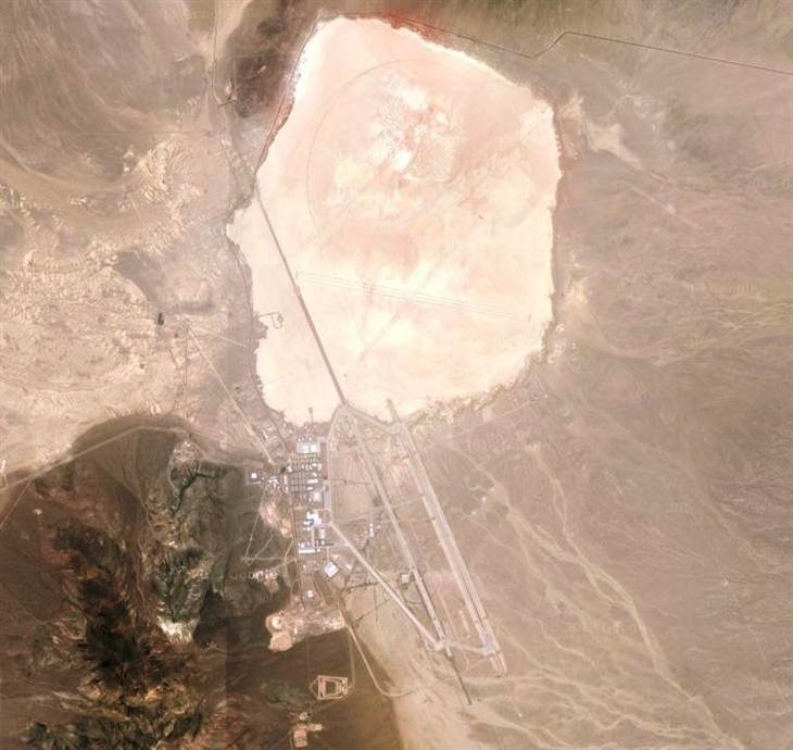 Area 51 Satellite Image